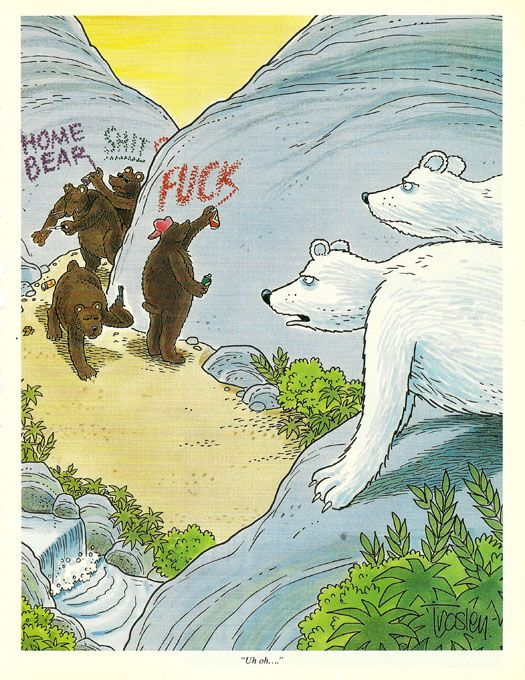 '90s Racism in Hustler Magazine: Funny Funny, Polar Bears, Funny Pictures, Funny Shiiiiiiiii, Racist Bears, Bears Posted, Monday Morning, Bears Funny, Bear Howard