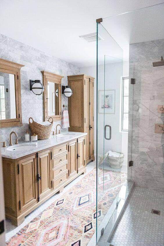 39 Galley Bathroom Layout Ideas To Consider Modern Boho Bathroom Bathroom Remodel Master Gorgeous Bathroom