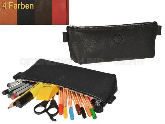 Sonnenleder BERIT - Leder Schlamper Stiftetui Stiftbox - 4 Farben