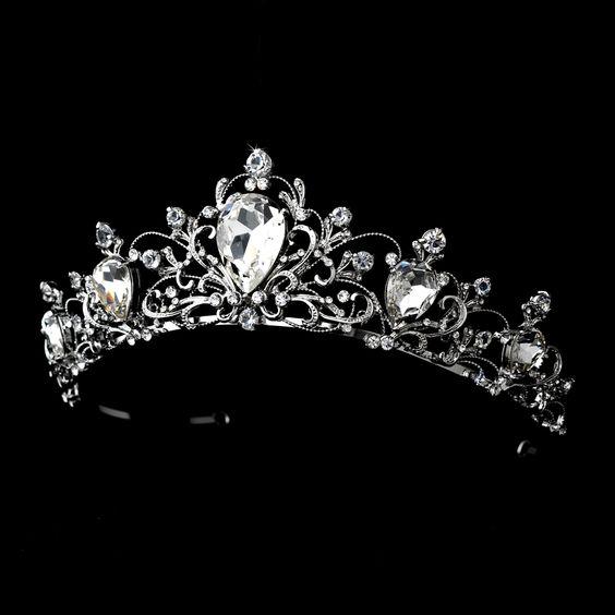 Affordable Elegance Bridal - Rhodium Vintage Inspired Bridal Wedding Tiara, $99.99 (http://www.affordableelegancebridal.com/rhodium-vintage-inspired-bridal-wedding-tiara/)