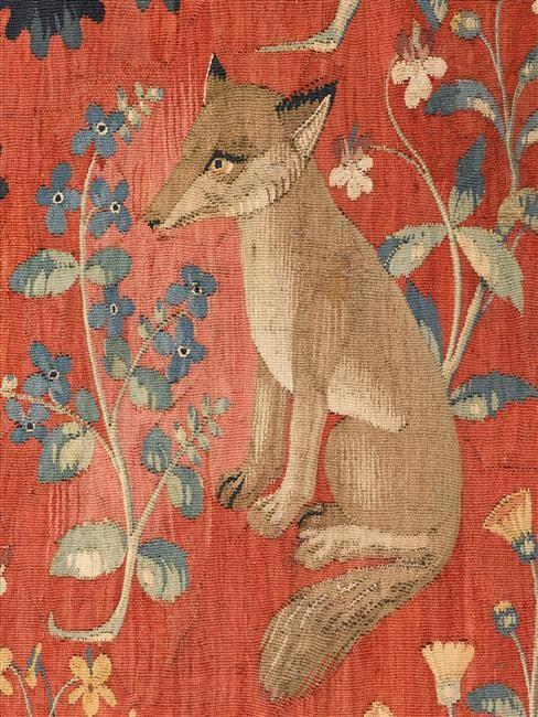 """Tenture de """"la Dame à la Licorne"""": le Goûtmusée. Musée de Cluny - musée national du Moyen-Age."""