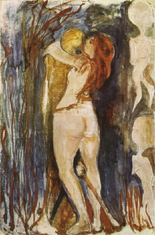 The Death and the Young Girl | Edvard Munch | oil painting