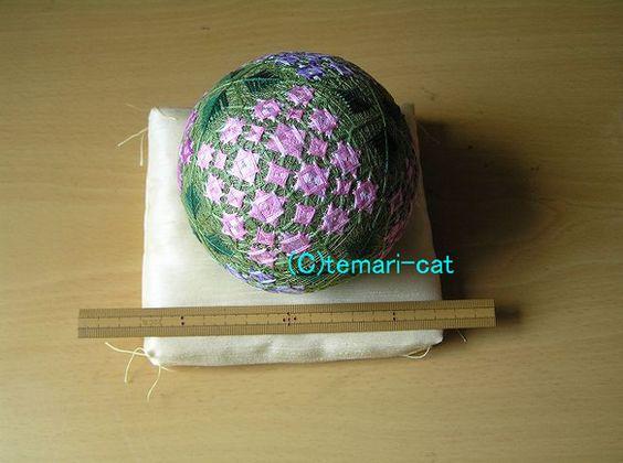 てまり「紫陽花」緑地 手まり 手毬 手鞠