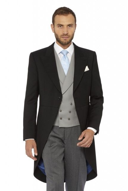 Morning suit with a tie (not a cravat)