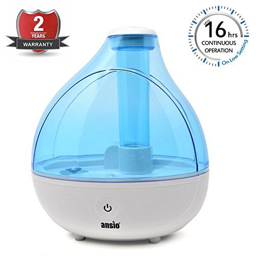 ANSIO Ultrasonic Cool Mist Humidifier 1500 ml, with Up to 16 Hours Continuous Use Humidifiers for Home, Yoga, Office, Bedroom [NOT an Aroma