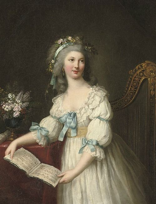 Portrait of Marie-Françoise Dumesnil by Marie-Victoire Lemoine, late 18th century