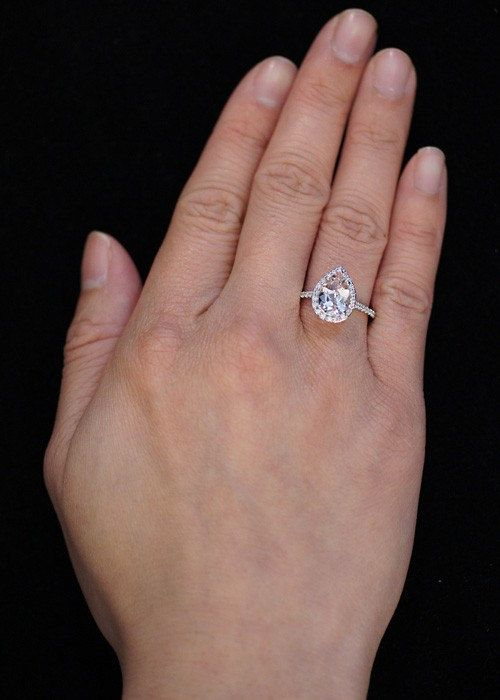 Morganite Engagement Pears And Engagement Ring Shapes On Pinterest