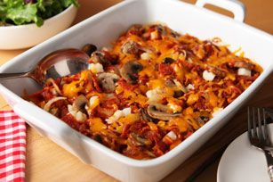 Casserole au fromage, au pepperoni et aux pommes de terre