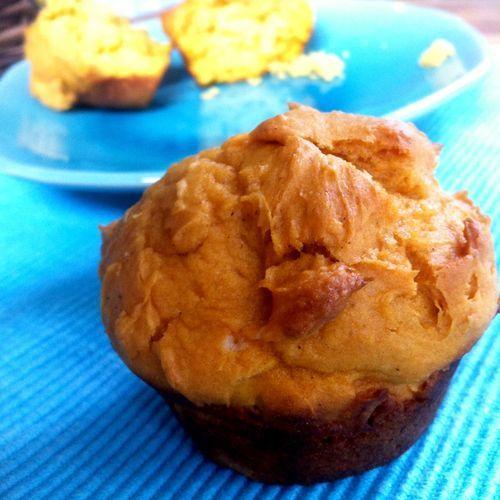 Two ingredient vegan pumpkin muffins