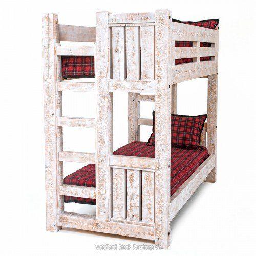 Letti A Castello Woodland.Sawmill Rough Sawn Timber Bunk Bed Letti A Castello