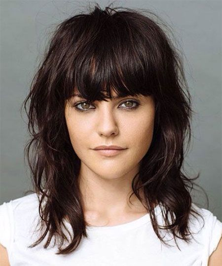 Outstanding Haircuts With Bangs Fringes And Mid Length On Pinterest Short Hairstyles Gunalazisus