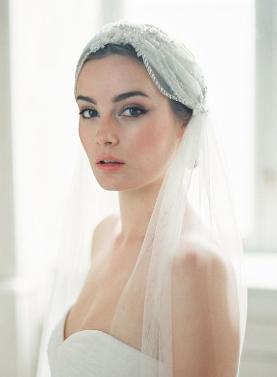 If you're planning a wedding, chances are you've been so obsessed with the dress, the venue and the guest list, your hair strategy has taken a backseat. To make things easy on you, we've scoured Pinterest for the chicest hairstyle-and-veil pairings.
