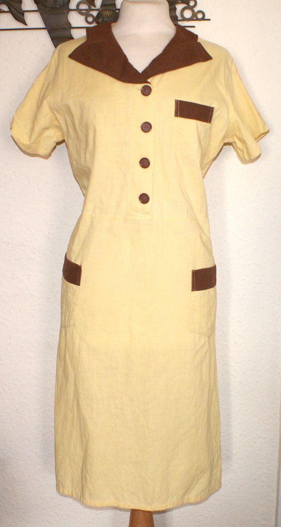 Reduced Vintage 1950s waitress uniform dress outfit S M would fit ...