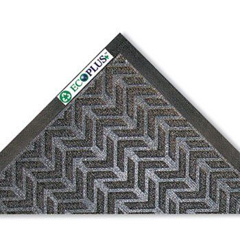EcoPlus Mat, 3 x 5, Charcoal by CROWN (Catalog Category: Furniture & Accessories / Mats) by Crown. $102.84. EcoPlus Mat, 3 x 5, Charcoal by CROWNHelp preserve the environment with this P.E.T. fiber surface wiper mat. Reinforced nitrile/rubber backing delivers excellent performance in heavy traffic areas. Raised rubber edging retains water and dirt, eliminating run-off problems. Crush-resistant reinforced pattern for aggressive scraping action and durability. Non-skid back...