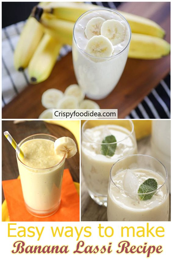 banana lassi | banana smoothie