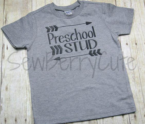 Hey, I found this really awesome Etsy listing at https://www.etsy.com/listing/242307204/preschool-shirt-kindergarten-stud-back