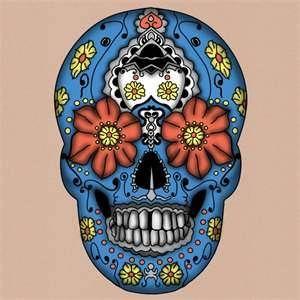 Day Of Dead Skull Tattoo Calaveras De Azúcar