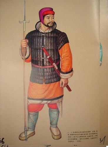 uniforme del ejército dinastía Han