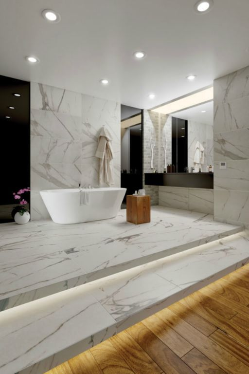 "Calacatta-Royal 18"" x 36"" Glazed Rectified Porcelain Tile"