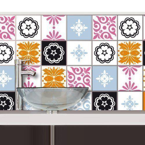Your Design your design Fliesensticker - Retro - 16 Stk. - 10 x 10 cm, Fliesensticker-fs-117-2glanz