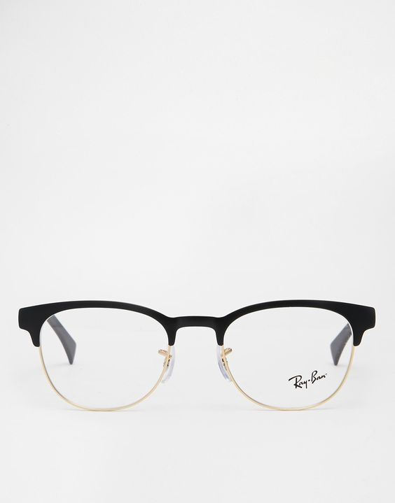 http://www.fashionnewswebsites.com/category/ray-ban-sunglasses/ Image 2 of Ray-Ban Clubmaster Glasses 0RX6317