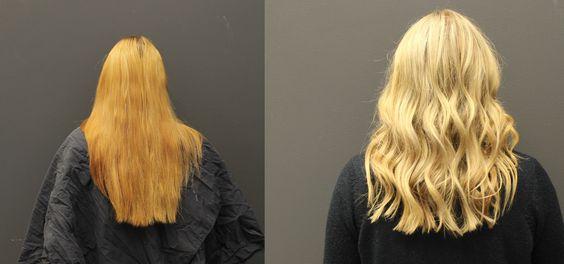 få bort gula toner i håret