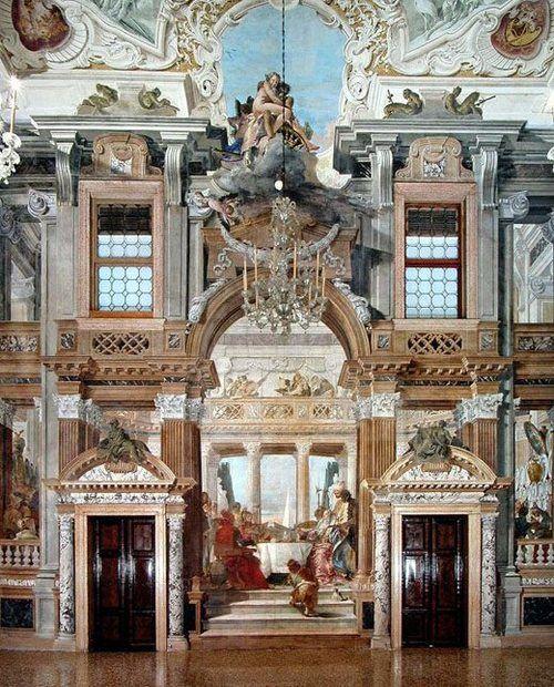 Palazzo Labia, ballroom with frescoes, by Tiepolo Venise: