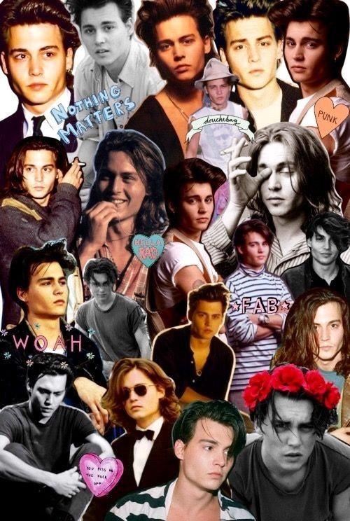 𝒞𝑜𝓁𝓁𝒶𝑔𝑒 Young Johnny Depp Johnny Depp Wallpaper Johnny Depp Birthday