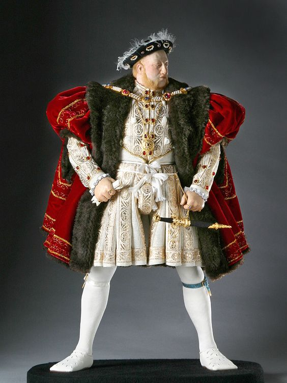 King Henry VIII  ~  Changed the course of England with his lust. ~ Henry VIII succeeded his father, Henry VII as the second Tudor monarch. Henry's six wives & marriages were driven as much by a need for sons as infatuation. In order. his wives were Catherine of Aragon, Anne Boleyn, Jane Seymour, Anne of Cleves, Kathryn Howard & Katherine Parr. Two ended by execution, & ultimately caused a break w/ Rome &  Dissolution of Monasteries. Parliament proclaimed Henry head of the Church in England.