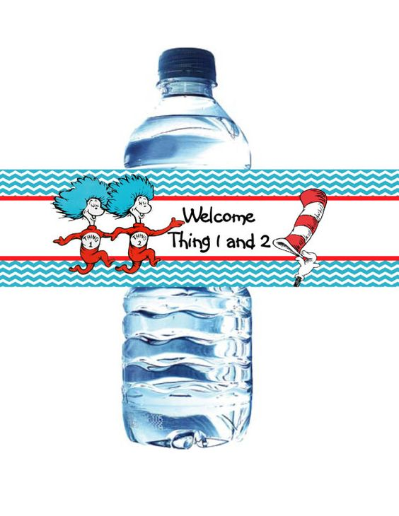 Thing 1 and Thing 2-Bottle Label-20-Printed by ASweetCelebration