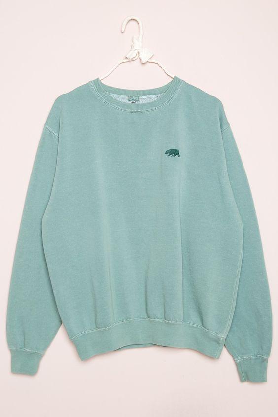 Brandy ♥ Melville | Erica Bear Embroidery Sweatshirt - Graphics