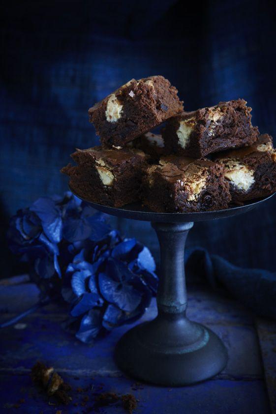 Fudge Brownies w/ White Chocolate & Sour Cherries