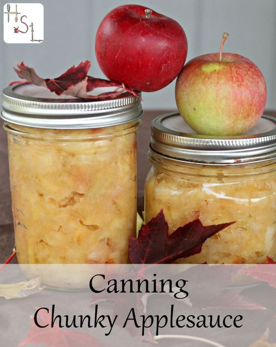 ... this quick and easy method for canning chunky applesauce this fall