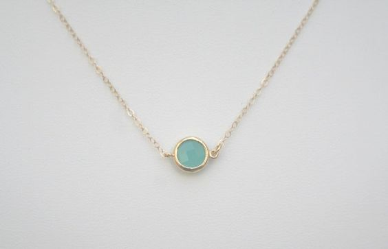 Mint Necklace in Gold. Mint Opal Necklace in Gold. Mint Green. Aqua Necklace in Gold. Aqua Jewelry. Minimalist. Christmas.Sale.Sister.Cousin by BellaJewelsInc on Etsy https://www.etsy.com/listing/120185635/mint-necklace-in-gold-mint-opal-necklace