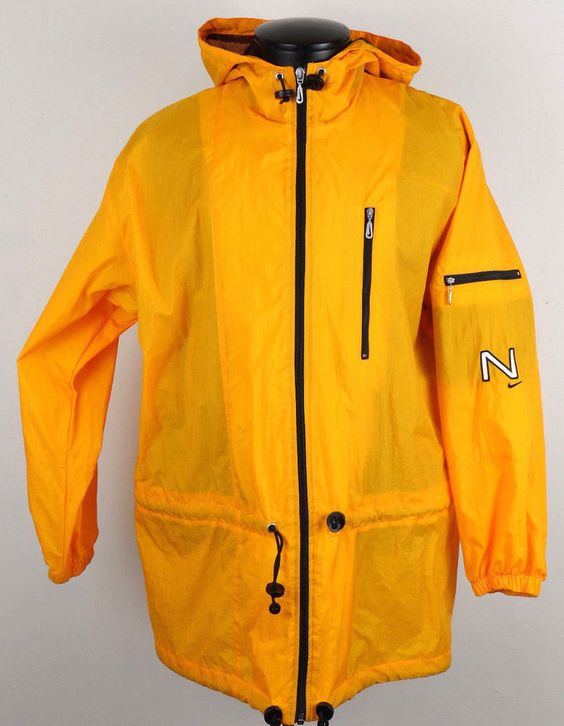 Vintage Nike Orange Swoosh 90&39s Windbreaker Nylon Jacket Womens