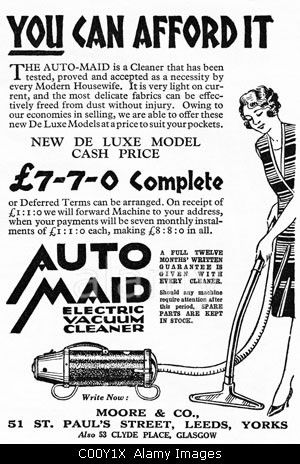 1920s Advertisement In Consumer Magazine For The Auto Maid