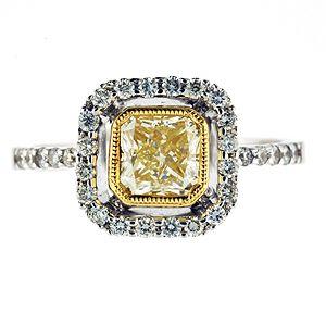 Love vintage looking yellow diamond rings!