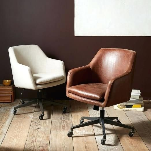 Cream Leather Desk Chair Cream Swivel Desk Chair Rkpi Me Home Office Chairs Office Chair Design Upholstered Office Chair