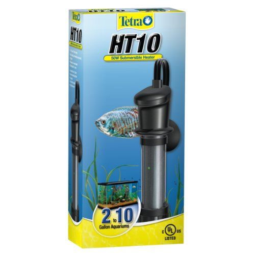 Tetra 26447 Submersible Heater, HT10, 50-Watt No adjustment required. Easy to conceal. Two year warranty. Please read all label information on delivery.