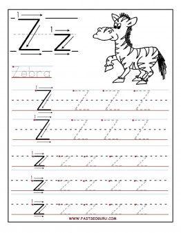 Printables Letter Z Worksheet printable letter z tracing worksheets for preschool preschool