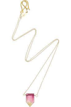 Halleh$990: Gem Stones, Necklaces Pendants, Halleh 990, 18 Karat Gold, Box Gem, Halleh 18, Bio Tourmaline, Color Therapy
