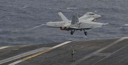 USS Nimitz conducts flight operations.