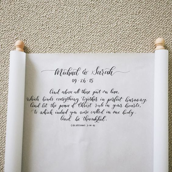 fabulous vancouver wedding Have you every considered a scroll for your guestbook? What a cool idea! Penned with moon palace sumi ink from @johnnealbookseller #moderncalligraphy #coconibscalligraphy #pointedpen #calligraphy #wedding #flourishforum #bibleverse #guestbook #signage #curioscalligrapher by @coconibs_calligraphy  #vancouverwedding #vancouverweddingstationery #vancouverwedding