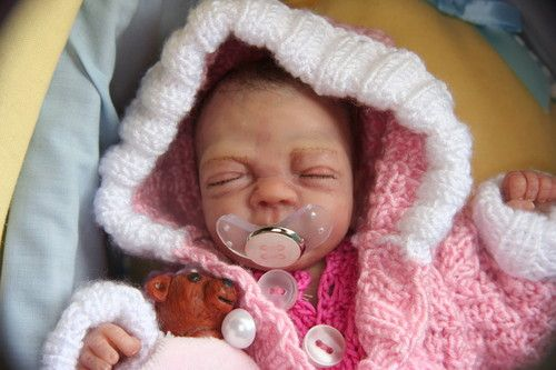 "Artist Ooak Sculpt  Mini Baby Girl Solid-Body-Baby ""Bella"""