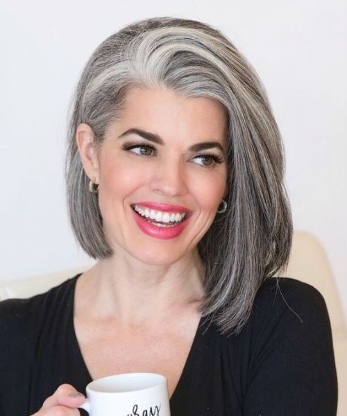 Devastatingly Stunning Grey Angled Bob Hairstyles to Show Off in 2019