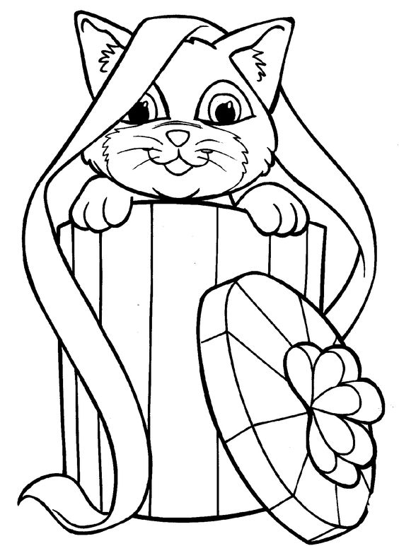Apples4theteacher Coloring Pages : Coloring sheets kitten page cats and kittens