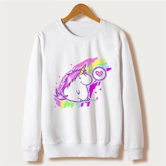 Sudaderas Mujer 2018 kawaii harajuku Unicorn Sweatshirt