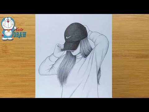 Hidden Face Drawing How To Draw A Girl With Cap Pencil Sketch Bir Ki In 2020 Girl Drawing Sketches Art Drawings Sketches Simple Art Drawings Sketches Creative