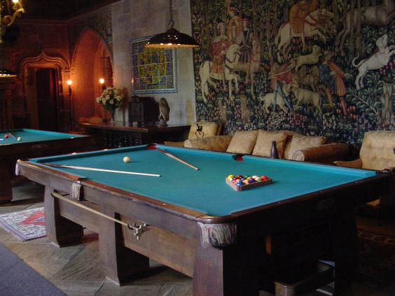 castle billiard | Hearst Castle Billiards Room