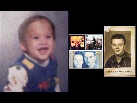 My son at age 1, my father's parents and other family throwbacks.